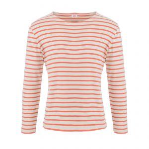 Marine Shirt Longsleeve Mastic/Orange Henné