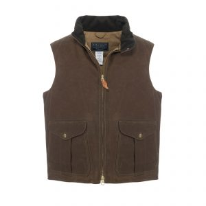 Goose Down Vest Dark Tan