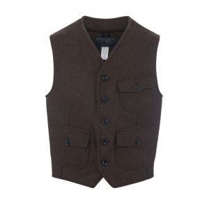 Wool Vest Brown