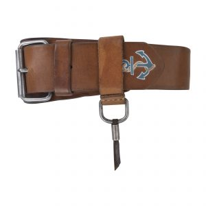 Anchor Vintage 4.5cm Belt Colourful-Blue/Grey Brown
