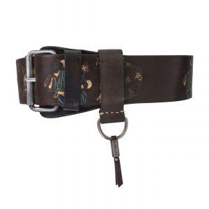 Bushido Vintage 4.5cm Belt Colourful-Blue Dark Brown