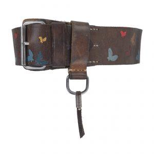 Butterfly 4.5cm Belt Dark Brown