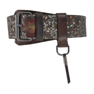 Mystique 4.5cm Belt Colourful-Dark Brown