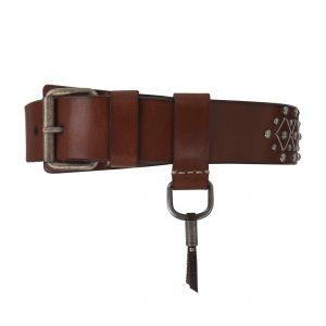 Vienna Silver 4cm Belt Brown
