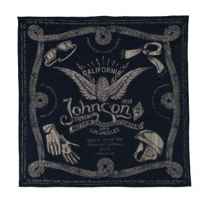 Winged Wheel Bandana Dead Navy