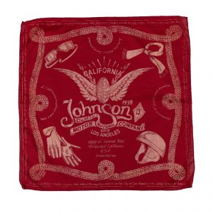 Winged Wheel Bandana Red