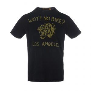 Wot No Bike T-Shirt Oiled Black