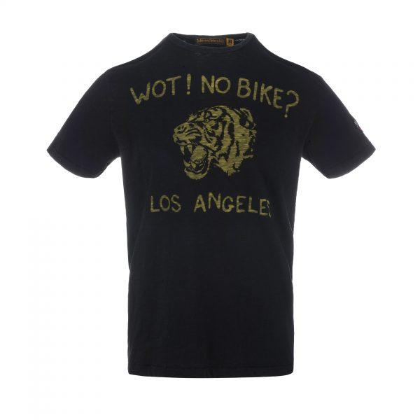 Wot No Bike T-Shirt Oiled Black