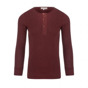 Henley 102 Longsleeve Dark Red