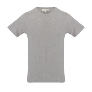 Crew Neck 1950s T-Shirt Grey Melange