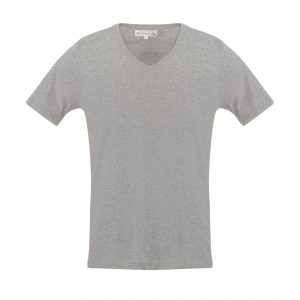 V-Neck 1970s T-Shirt Grey Melange