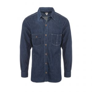 Denim Union Ticket Print Heritage Shirt 8oz Indigo