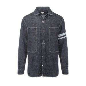 Selvage Denim Jail Pocket Shirt Indigo