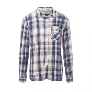 Seattle Shirt - Flannel Check 5 Shirt Blue