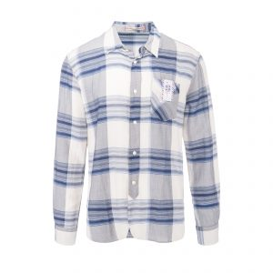 Seattle Shirt - Boston Plaid Check Shirt Grey/White/Blue