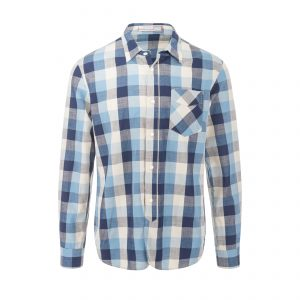 Seattle Shirt - Blue Gingham Check Shirt Grey/White/Blue