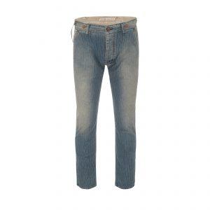 Cotton Pant Pinstripe Light Blue