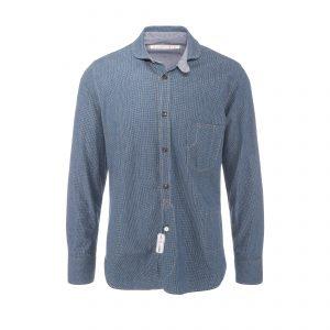 Cotton Shirt Blue White