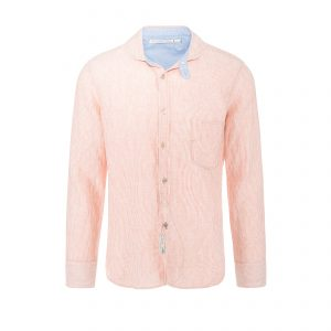 Linen Shirt Stripe Rosé/White