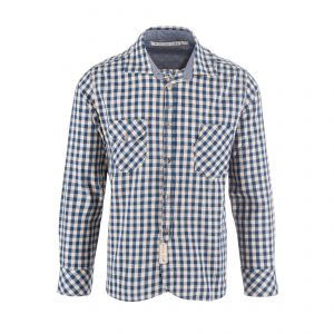 Cotton Shirt Ecru/Navy