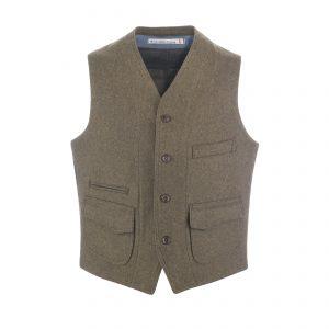 Wool Vest Beige/Blanket Lined
