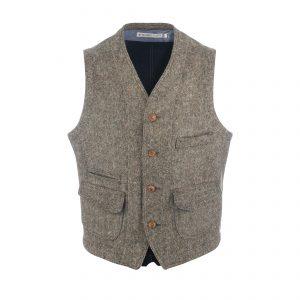 Wool Vest Beige/Navy