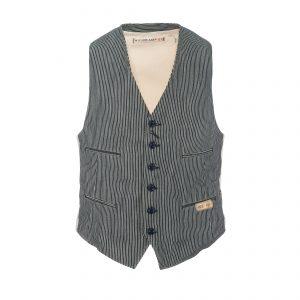 Cotton Vest Stripe Dark Navy/White