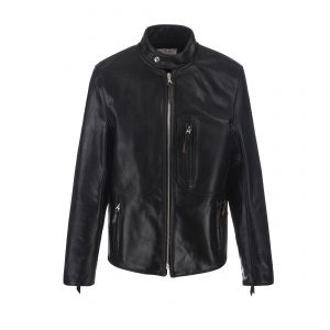 SB Vintage Racer Leather Jacket Black