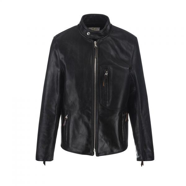 SB Vintage Racer Leather Jacket Black