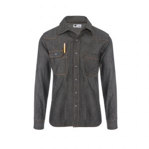 Topper Denim Shirt 7.5oz Raw Denim Dark Navy