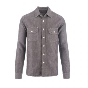 Clampdown Shirt Mouline Brown