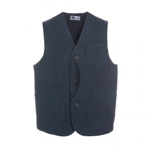 Worker Vest Canvas Navy