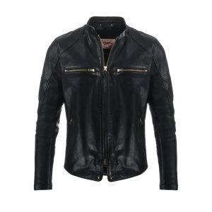 Caferacer Leather Jacket Black