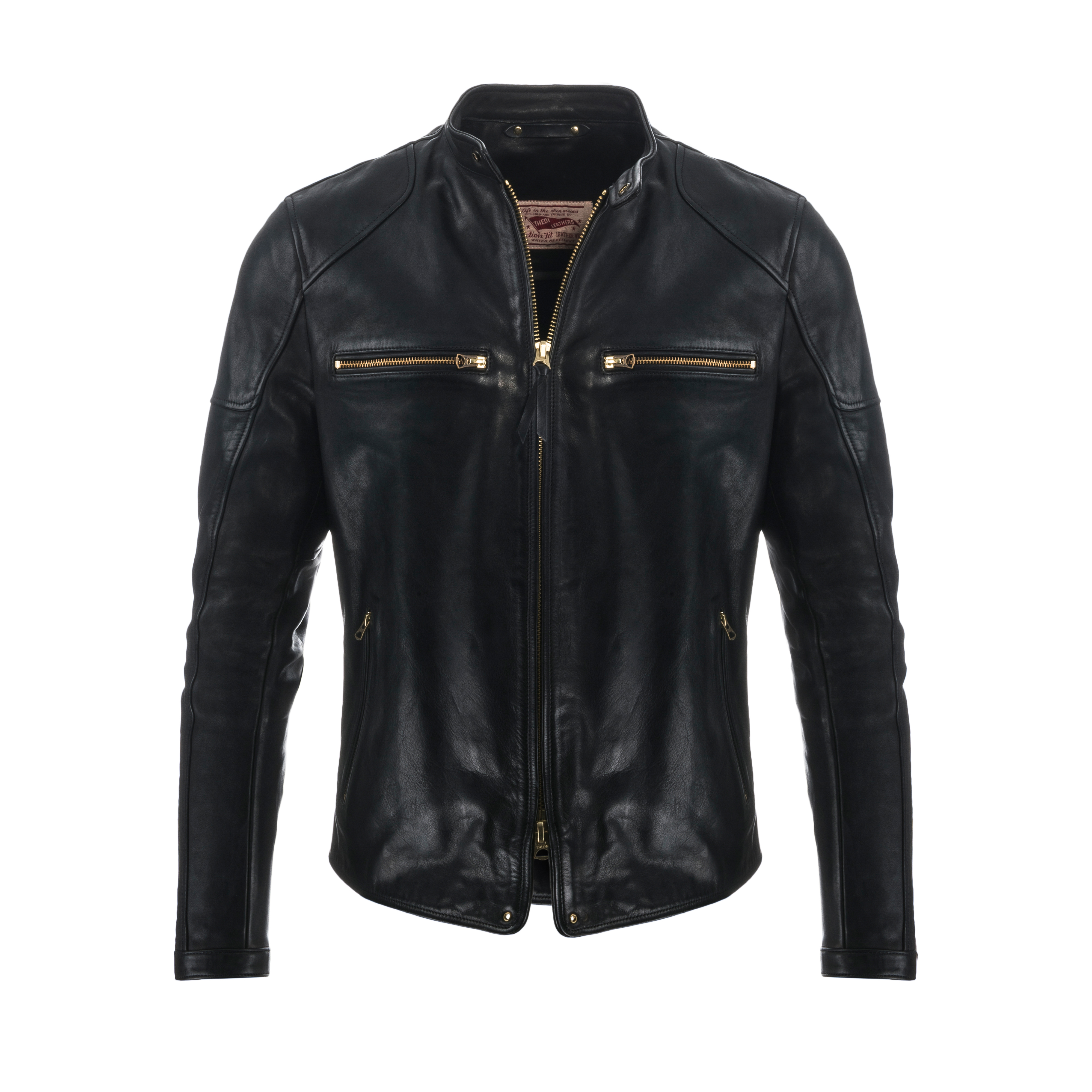 s rug pin collar jacket leather shearling removable rugged with