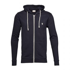 Knowledge-Cotton-Sweatshirt-Basic-Hood-Sweat-Navy-30186-1001-01