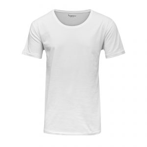 Knowledge-Cotton-T-Shirt-Basic-Loose-Fit-O-Neck Tee-white-1011-1010-01