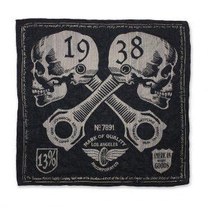 Johnson-Mototrs-Bandana-BN55417-1938-Skulls-Black