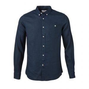 Knowledge-Cotton-Linen-Shirt-GOTS-Total Eclipse-90166-1001