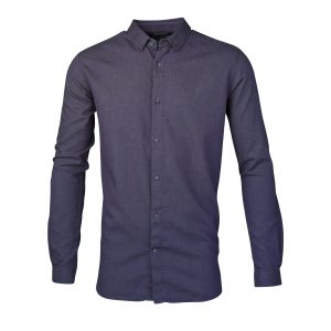 Knowledge-Cotton-Slim-Fit-Shirt-Total-Eclipse-90343-1001-01