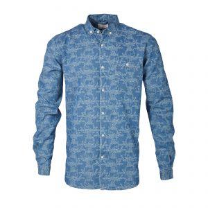 Knowledge-Cotton-denim-chambray-shirt-90431-1105-01