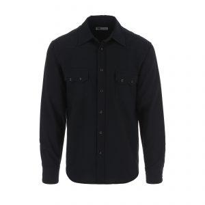 Tellason-Shirt-Cowboy-Shirt-Oxford-Black-0103-1