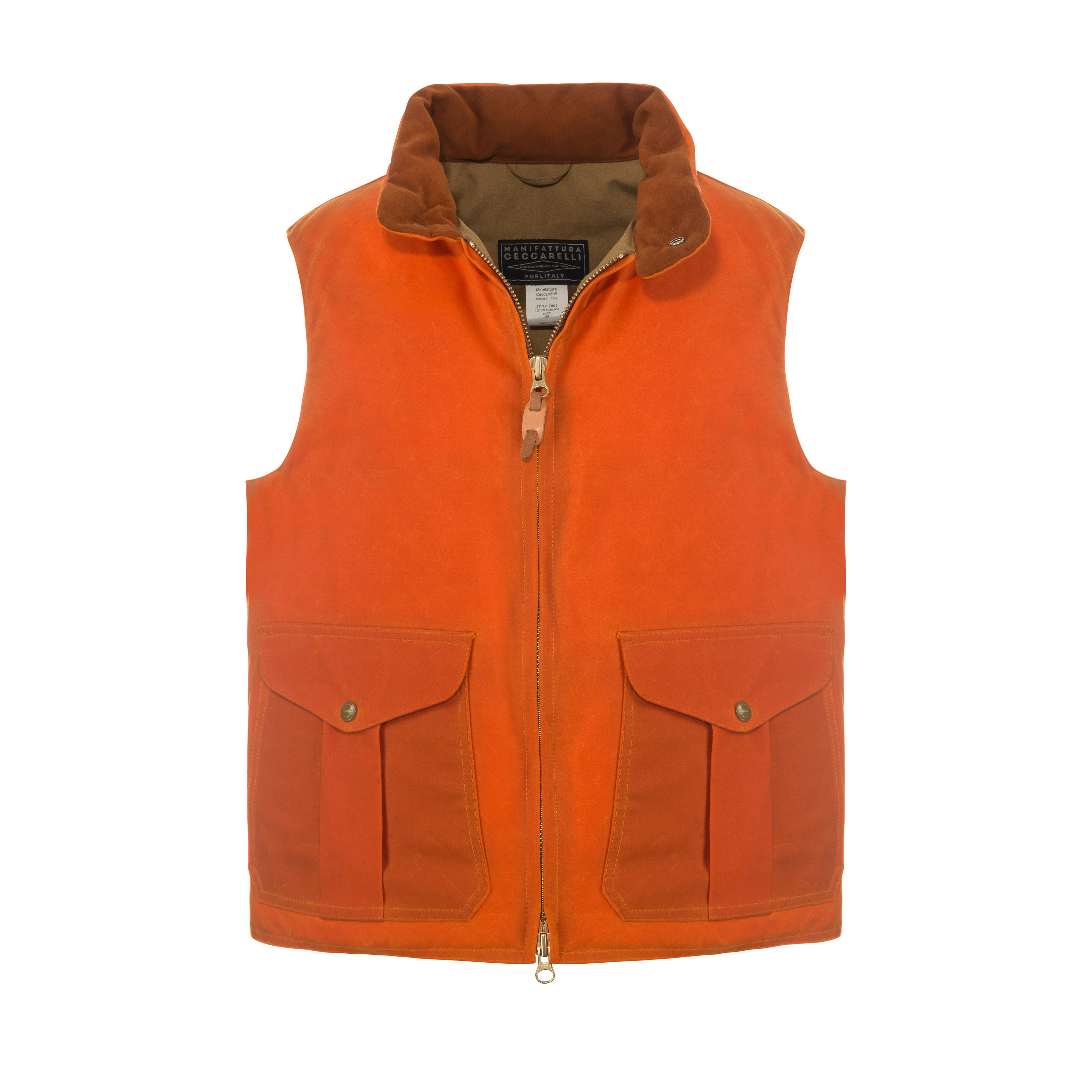 Goose Down Vest Orange
