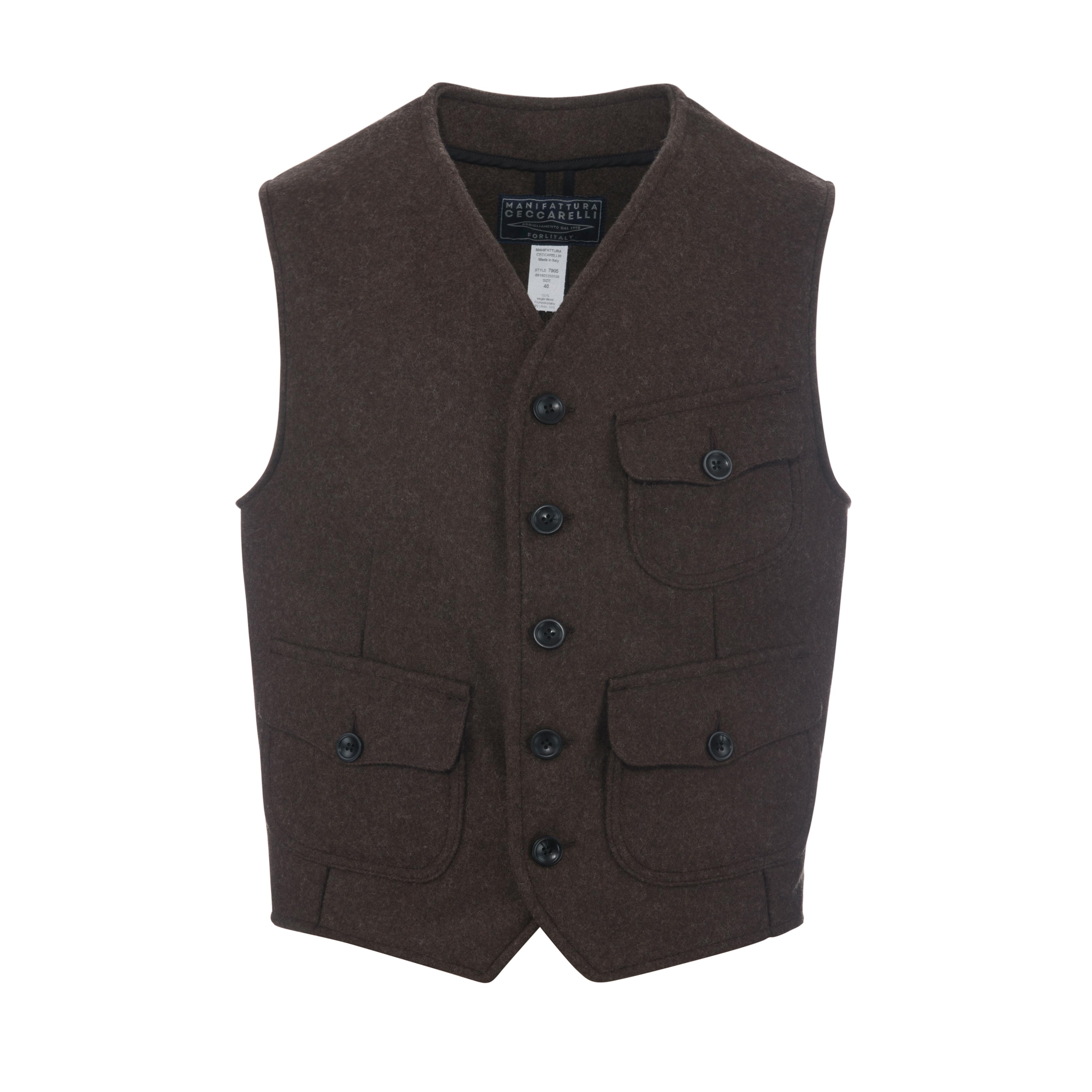 Wool Vest Brown