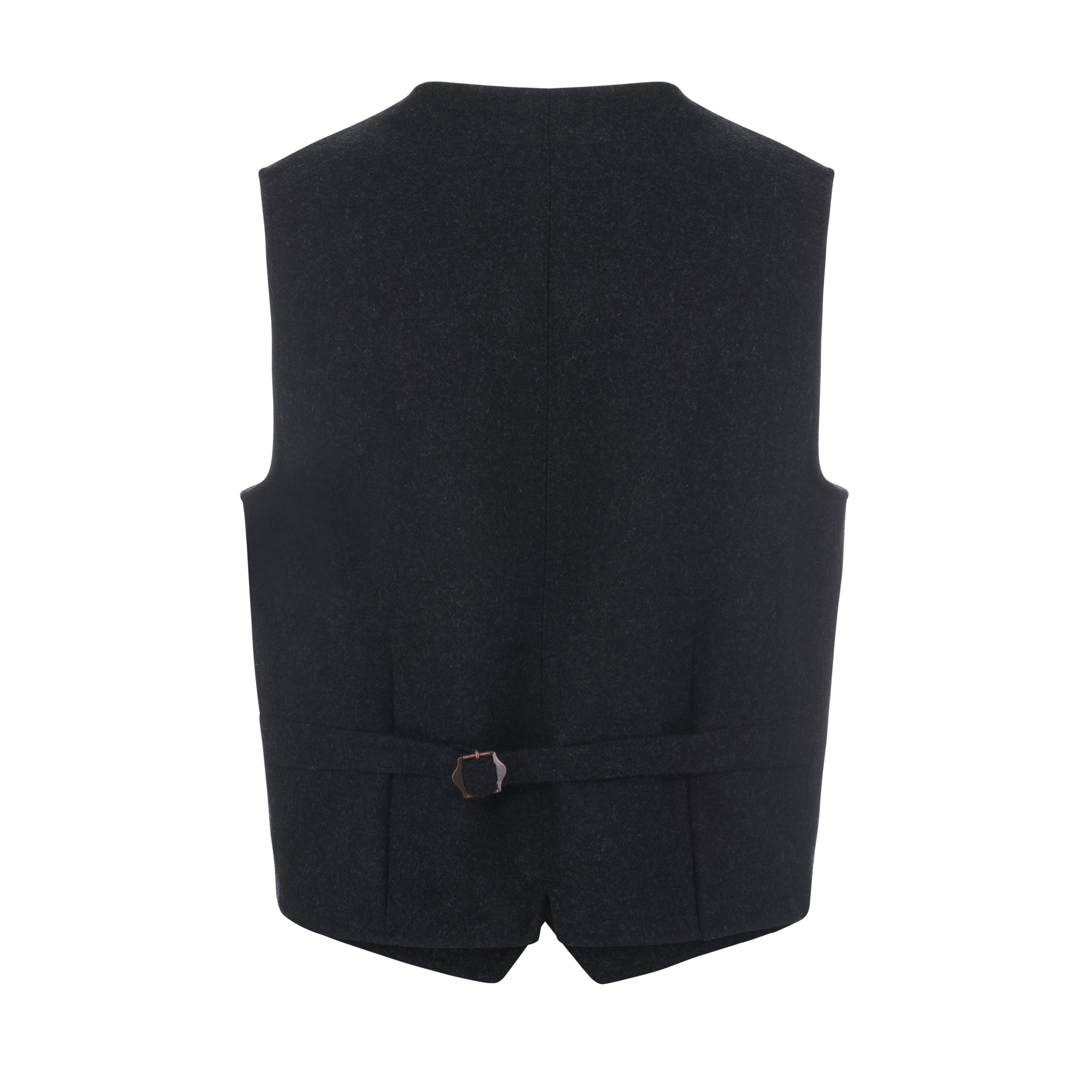 Wool Vest Charcoal