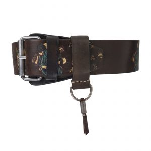 Bushido Vintage 4.5cm Belt Colourful-Blue Dark Brown