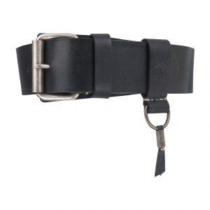 Heritage Handsewn 4.5cm Belt Black