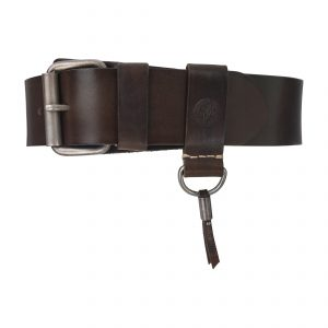 Heritage Handsewn 4.5cm Belt Dark Brown