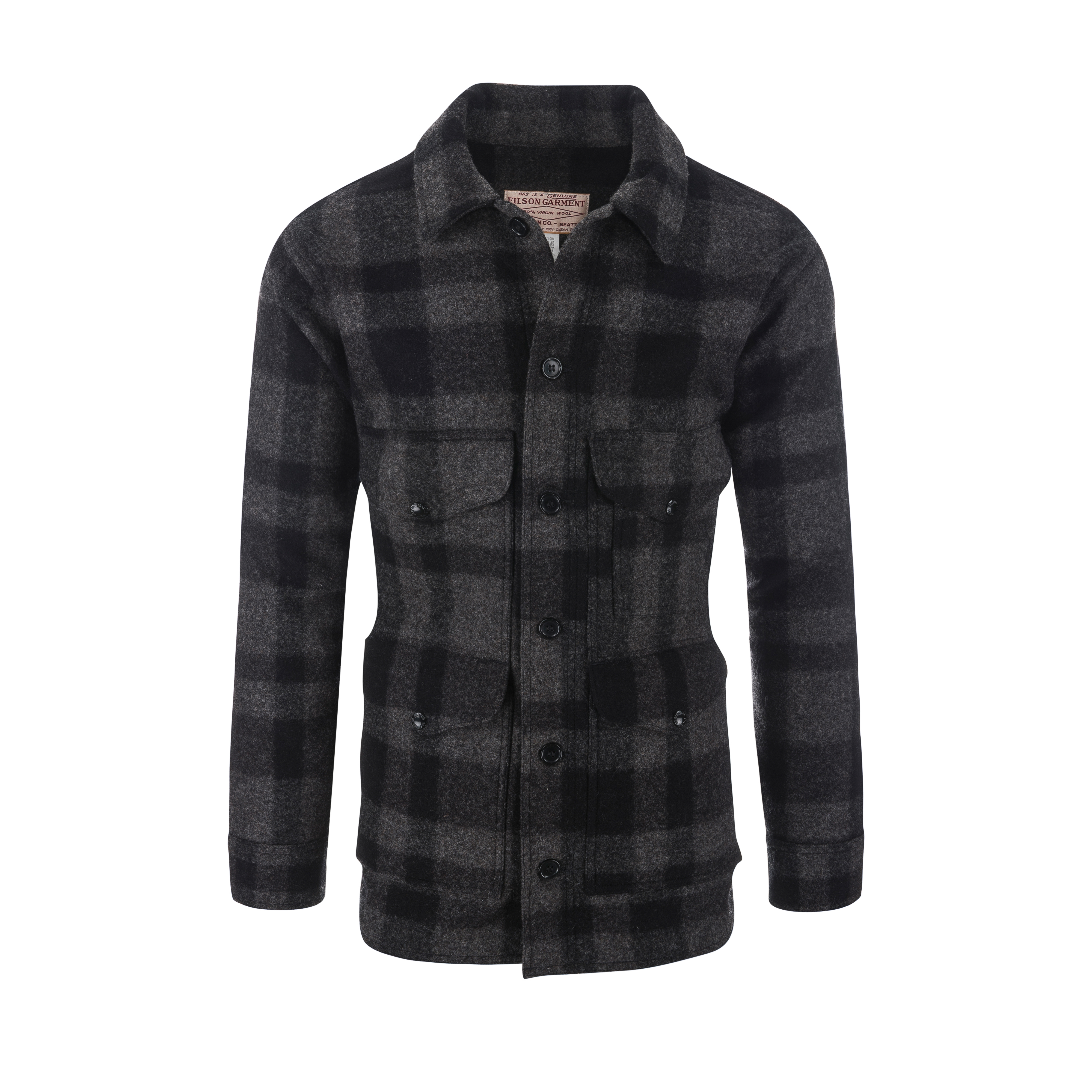 Wool Mackinaw Cruiser Jacket Grey/Black