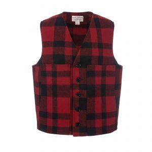 Mackinaw Wool Vest Red/Black