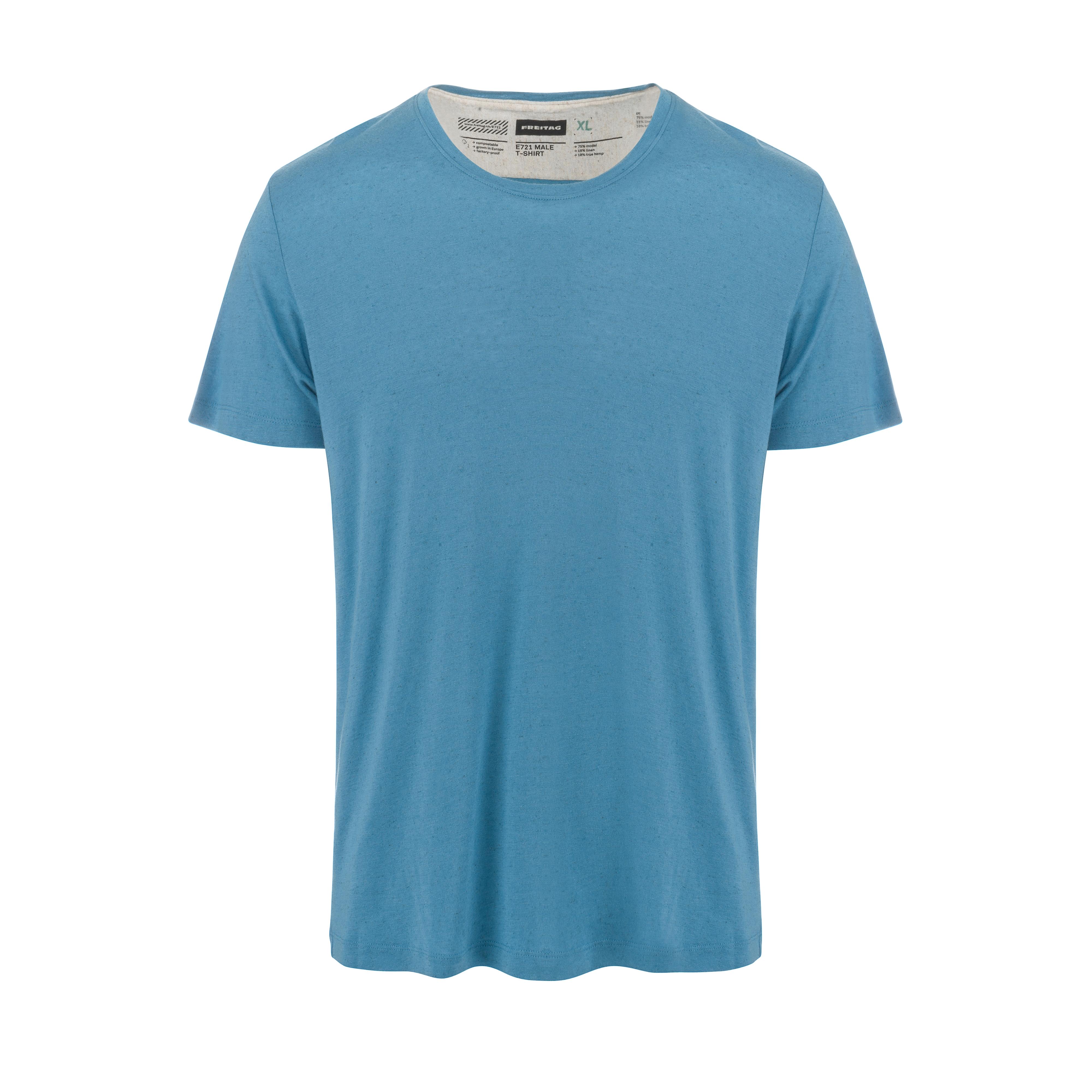Crew Neck T-Shirt Blue Shadow